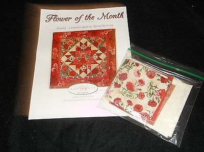 Block Of The Month Patterns And Fabric:  Flower Of The Month By Ro Gregg