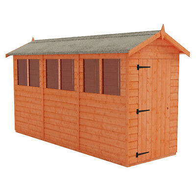 12x4 Tiger Flex Apex Garden Shed - Tongue and Groove Apex Sheds
