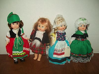 LOT of Vintage Ginny Dolls Early International Series