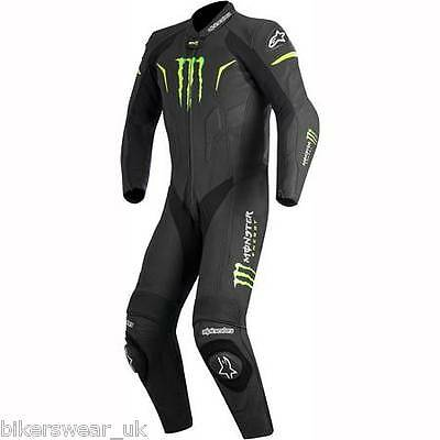 Alpinestars WARG Monster 1 One Piece Black/Green Race Leather Motorcycle Suit 52