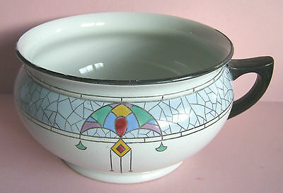 Shelley Art Deco Vintage Chamber Pot Pattern 8441 Hand Painted 1916 - 1925