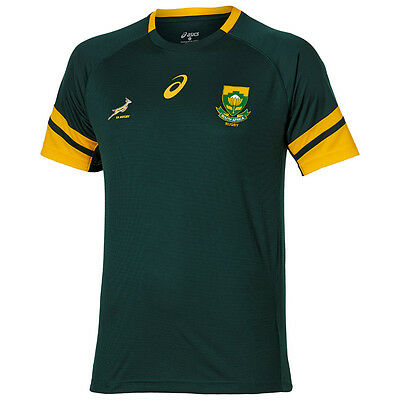 Adults 2XLarge South Africa Springboks Rugby 15 Classic Fan T-Shirt Green H88