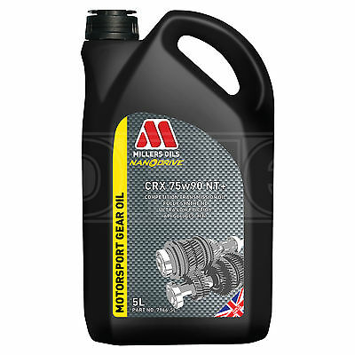 Millers CRX 75w90 NT+ Competition full synthetic transmission oil 5 Litre - 2017