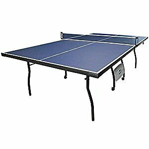 HLC Blue Folding Full Size Indoor Outdoor Fitness Table Tennis Table, Ping Pong