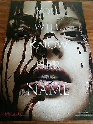 Chloe Moretz Signed 11x17 Carrie Poster  Authentic Autograph PROOF - Horror