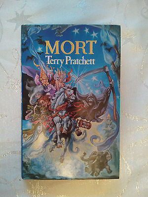 Mort by Terry Pratchett. Signed (Hardback, 1988) First Edition, Second Print