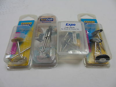 Set 2 ModelCraft Tools Wheel Brushes, Pencil Brushes & Polishers will Fit Dremel
