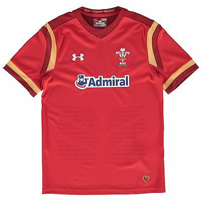 Kids Small Wales Rugby Home Supporters Shirt 15/16 Red H90