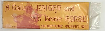 Vintage Soft Sculpture Puppet Kit A Gallant Knight And His Brave Horse