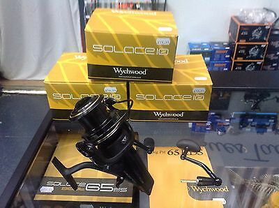 3 X Wychwood Solace 10 ACS Free Spin Reels + Spare Spools + FREE 15lb DPF line