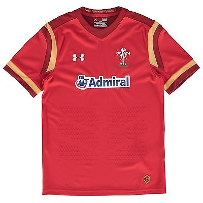 Kids XLarge Wales Rugby Home Supporters Shirt 15/16 Red H19