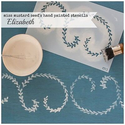 Miss Mustard Seed's Milk Paint hand painted STENCIL mms 03 Elizabeth - reusable