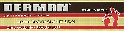 New Derman Antifungal Cream Ointment Athletes Foot Itching Peeling Cracking Feet