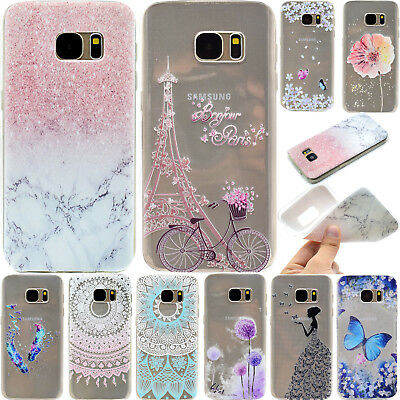 Cute Painted Soft TPU Shockproof Slim Back Case Cover For Samsung Galaxy Phones