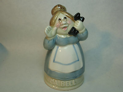 Ma Bell bell. Made in Japan. 1990. Handpainted
