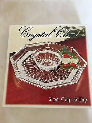 Crystal Clear 2 Piece Chip and Dip Set
