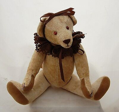Artist Teddy Bear Sheila's Crushed Velvet by Linda Spiegel Bearly There OOAK