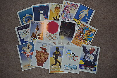 Collection Mars OLYMPIC POSTCARDS X 15 various