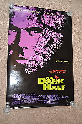 THE DARK HALF 1993 US one sheet cinema Poster Stephen King - George A Romero