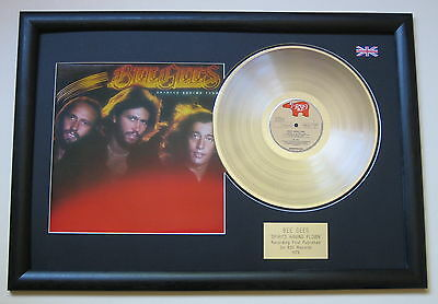 BEE GEES Spirits Having Flown PLATINUM LP DISC with cover Presentation