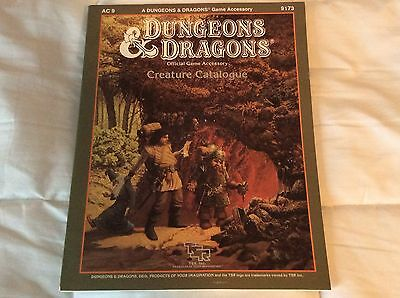 Vintage 1986 DUNGEONS & DRAGONS - CREATURE CATALOGUE - AC9 9173 High Grade
