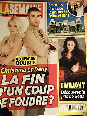 Kristen Stewart Breaking dawn 2 La Semaine magazine Twilight Celine Dion
