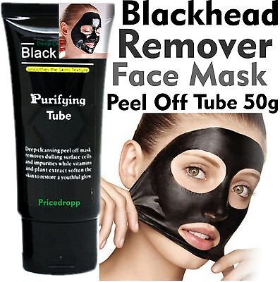 50g BlackHead TUBE Genuine Face Mask Nose Remover Pore Mud Acne Cleansing