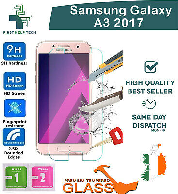 For Samsung Galaxy A3 (2017) 0.26mm Tempered Glass Screen Protector Guard Film