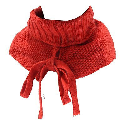 7597R scaldacollo bimba SIMONETTA rosso lana neck warmer wool kid