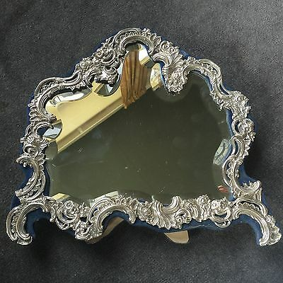 Large Antique Victorian Silver Framed Dressing Table Mirror. William Comyns 1901