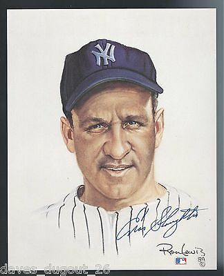 ENOS SLAUGHTER 8 x 10 Living Legends print by Ron Lewis - SIGNED - Authentic