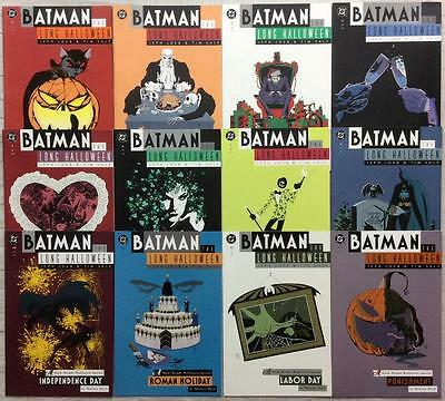 Batman The Long Halloween #1 to #13 near complete series (1997 DC) 12 x issues