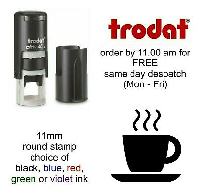 Coffee Cup Loyalty Card Rubber Stamp 4612 Self Inking stamp reward coffee shop