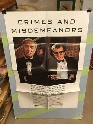 Allen,woody-Crimes & Misdemeanors Movie Poster-Excellent Condition