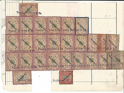 Austria Fiscal Revenue Cinderella Stamps Used On Part Document