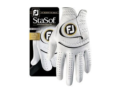Footjoy StaSof Mens Leather Golf Gloves size ML 2016
