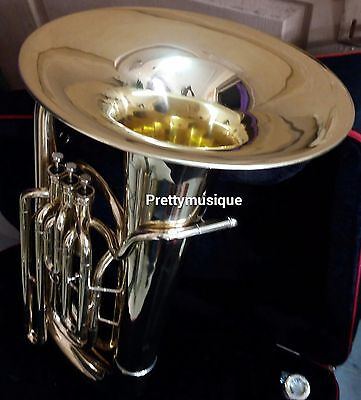 Tuba In Eb Flat Made Of Pure Brass In Brass Polish +Hard Case Box +Free Shipping