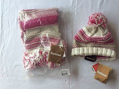 Girls Barbour Hat And Scarf Set Brand New With Tags Size S/M Age 6-7-8 Years