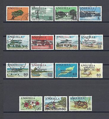 ANGUILLA 1969 SG52A/5 USED 1969 Independence Set
