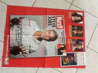 collector affiche paris match grand format GEORGES CLOONEY Port Gratuit
