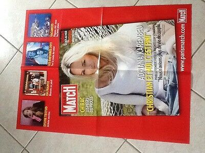 collector affiche paris match grand format ADRIANA KAREMBEU Port Gratuit