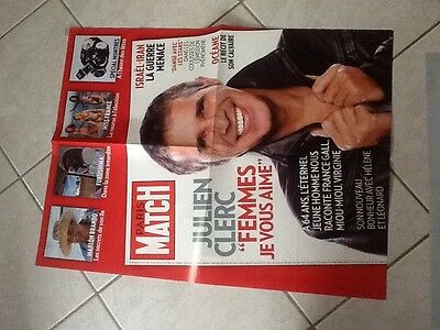 collector affiche paris match grand format JULIEN CLERC Port Gratuit