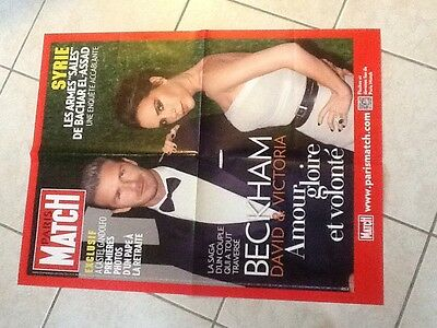 collector affiche paris match grand format BECKHAM David Victoria Port Gratuit