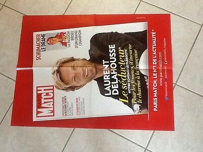 collector affiche paris match grand format LAURENT DELAHOUSSE Port Gratuit