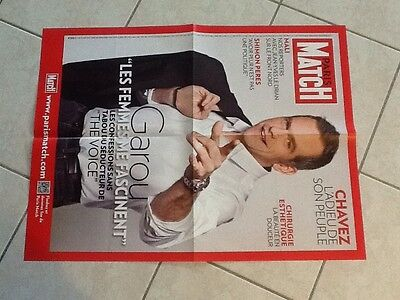 collector affiche paris match grand format GAROU Port Gratuit