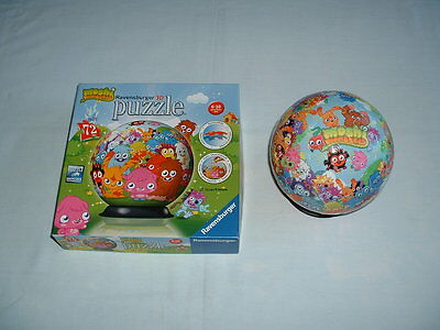 MOSHI MONSTERS Puzzle Ball 72 Piece 3D Jigsaw With Base Stand (RAVENSBURGER)