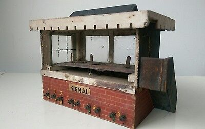 Vintage Model Railway Signal Box, Wooden 1940/50s