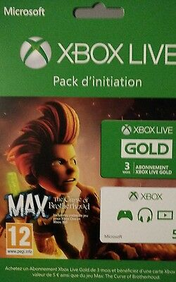 Xbox Live Gold 3 Month Xbox 360 Xbox One FR + Jeux Max The Curse Brotherhood