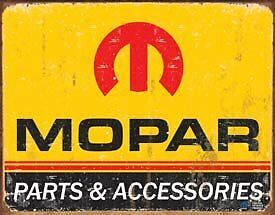 Desperate Enterprises Mopar Logo '64-'71 Collectible Metal Sign, Model# 1315 ,