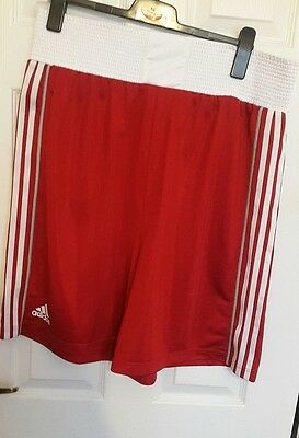 adidas boxing shorts size XL red b23